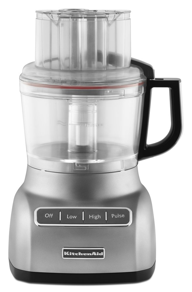 KitchenAid KFP0922CU 9-Cup Food Processor with Exact Slice System - Contour Silver by KitchenAid