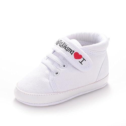 9aee46e8d Zapatos para Bebé de Lona de Niña Impresión de Letras Zapatilla de Deporte  Antideslizante del Zapato