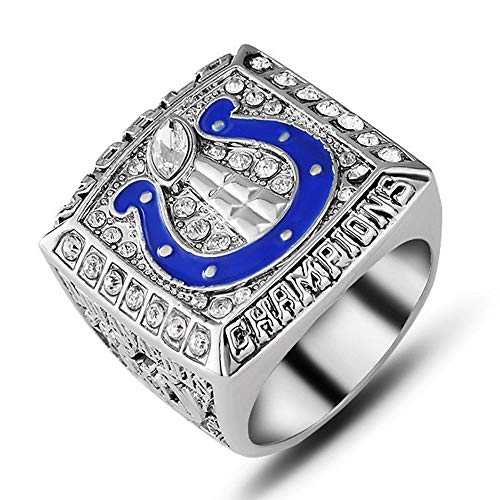AJZYX 2006 Indianapolis Colts Football Super Bowl Championship Souvenir Collectible Rings for Man and Fans Size 11