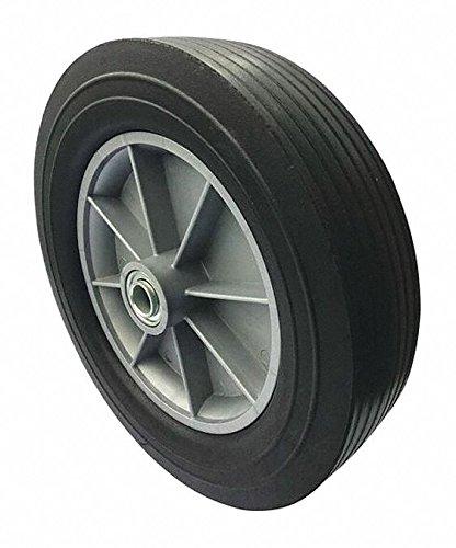 12'' Light-Medium Duty Ribbed Tread Solid Rubber Wheel, 550 lb. Load Rating
