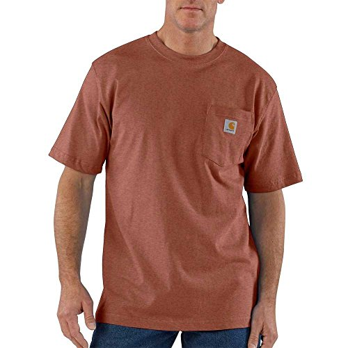 Carhartt Men's Big and Tall Big & Tall Workwear Pocket Short Sleeve T-Shirt, Sequoia Heather 3X-Large -