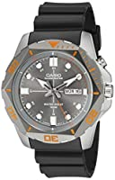 Casio Men's MTD-1080-8AVCF Super Illuminator Diver Analog Display Quartz Black Watch