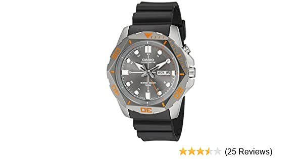 Amazon.com: Casio Mens MTD-1080-8AVCF Super Illuminator Diver Analog Display Quartz Black Watch: Watches