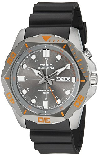 Resin Case Dive Watch (Casio Men's MTD-1080-8AVCF Super Illuminator Diver Analog Display Quartz Black Watch)