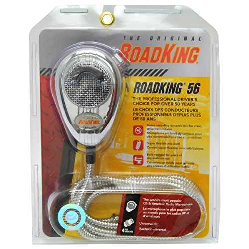 Cb Mic Radio Wiring (RoadKing RK56CHSS Chrome Noise Canceling CB Microphone with Chrome Flex Cord)