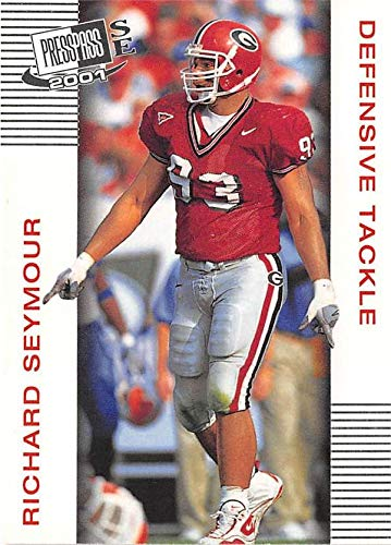 2001 Press Pass Football - Richard Seymour football card (University Georgia Bulldogs) 2001 Press Pass SE #48 Rookie