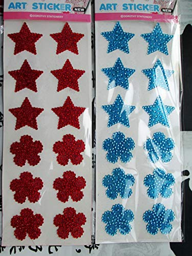 Dalab New Design Star Flowers Rhinestone Stickers Wholesale Decorative Jewelry Self-Adhesive Stickers