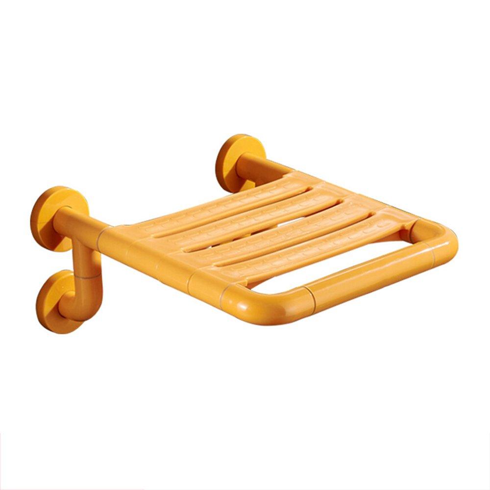 【期間限定送料無料】 4つの台座多機能シャワーチェア -/壁掛けシャワースツール/浴室高齢者浴椅子 - 黄色 黄色 B07DHC58WR B07DHC58WR, インテリアエクスプレス:480b80cc --- calleridpop.com