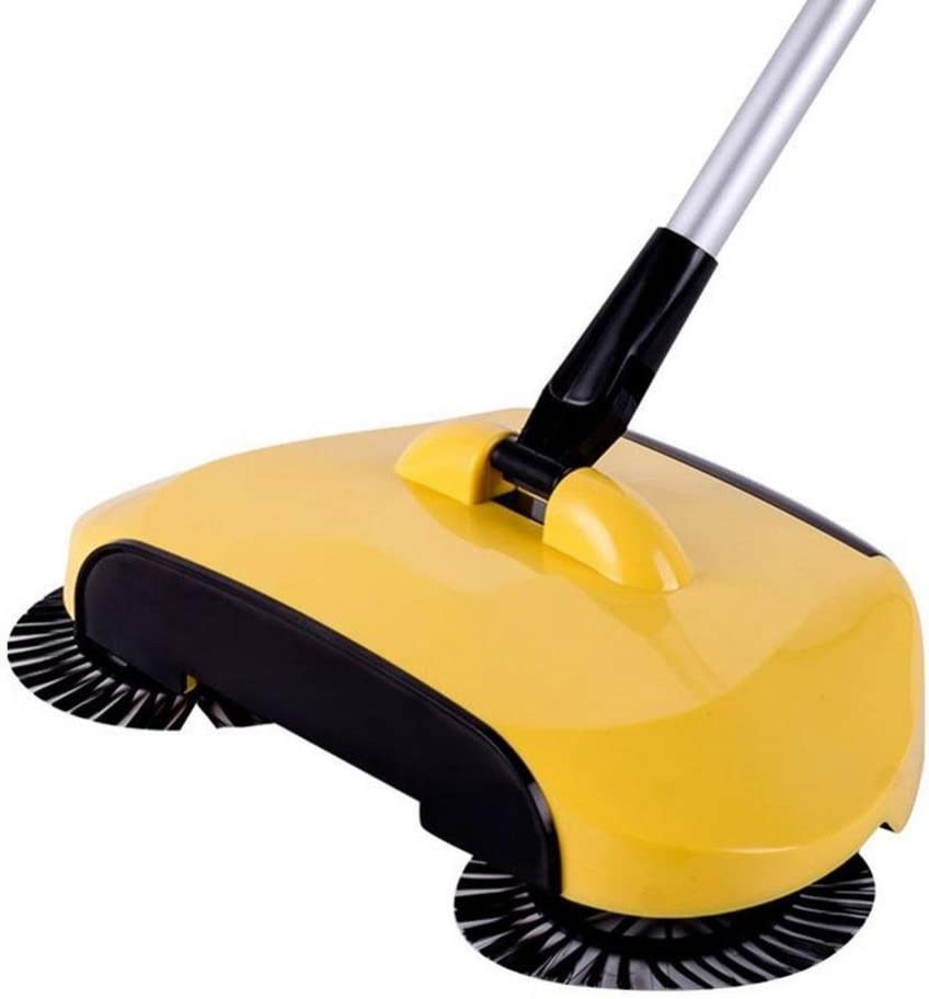 Dust Brooms Fabal New Arrival 360 Rotary Home Use Magic Manual Telescopic Floor Dust Sweeper Automatic Brooms (Yellow)