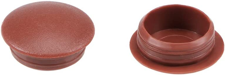 uxcell Screw Cap Cover,20Pcs 12mm Dia Black Plastic Locking Hole Plug Button Top Flush Type for Cabinet Cupboard Shelf