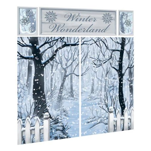 Wonderland Room Winter Roll (Amscan Winter Wonderland Scene Setter Decorating Kit)