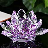 Lotus Crystal Lotus Flower Tea Light Candle Holder, Decor Collection,Decor Collection ,Tuscom (Purple#)