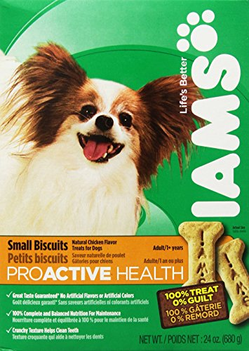 Iams Proactive Health Dog Biscuits, 24 oz (Pack of 6) by Iams