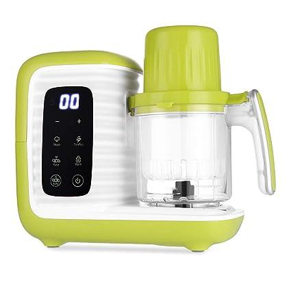 Zanmini Procesador de Alimentos para Bebés, para Vaporizar, Batir y Calentar, 7 en