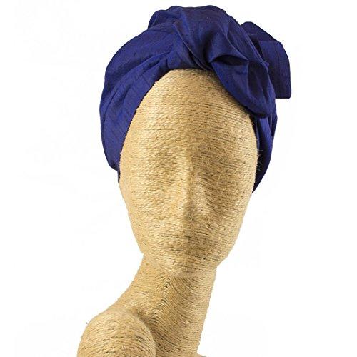 Fascinator, Silk Headbands, Millinery, Worldwide Free Shipment, Delivery in 2 Days, Head wrap, Bohemian Accessories, Headpieces, Head dress, Kentucky Derby Hat, Dark Blue by Elipeacock