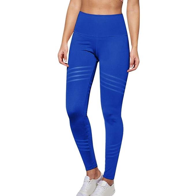 VPASS Mujer Pantalones Mayas Mallas Mujer Fitness Elásticos ...