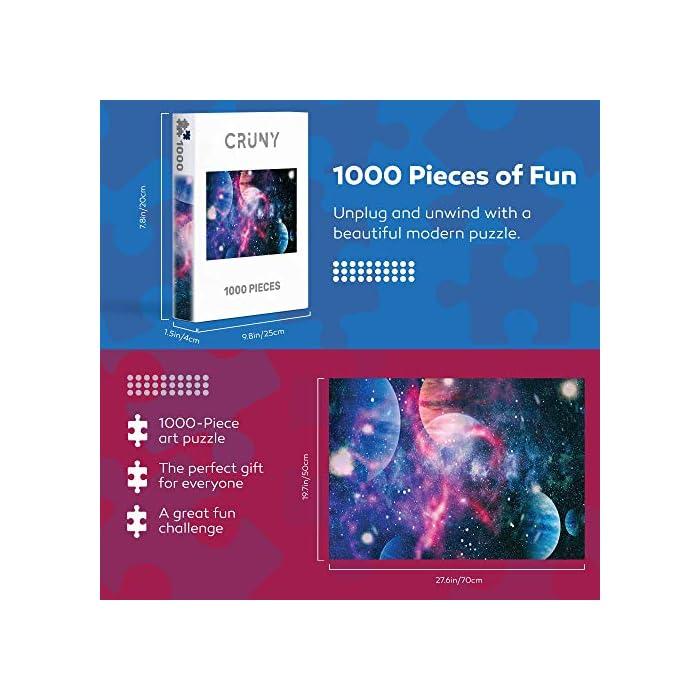517HqRKWZpL 🧩 PUZZLES 1000 PIEZAS ADULTOS - Además de ser divertido, el puzzle mejora la concentración y la memoria a corto plazo. Nuestro rompecabezas para adultos es la opción ideal para todos los que buscan estimular eficazmente su imaginación, entrenar su capacidad mental y paciencia 🧩 ROMPECABEZAS PARA ADULTOS - Con 1000 piezas de rompecabezas y un área total de 66 cm x 47 cm, este rompecabezas 1000 piezas para adultos es ideal como rompecabezas avanzados, para los que un puzzle 500 piezas adultos ya no es suficientes o es demasiado simple 🧩 CALIDAD SUPERIOR - Este rompecabezas para adultos se ha hecho con materiales especialmente resistentes que mantendrán su forma y color durante años. Diseñado y fabricado en Alemania, estas piezas de rompecabezas cortadas con láser encajan perfectamente sin romperse o despegarse.