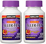Kirkland Signature Aller-Fex, 180 mg, 150 Count (2 Pack)