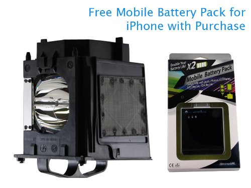 180w Projection Tv Lamp (Mitsubishi WD-73732 180 Watt TV Lamp with Free Mobile Battery Pack)