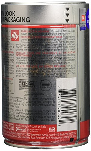 Illy, Ground Coffee Drip Grind (Medium Roast), 8.8 Ounce Tin (Packaging May Vary)