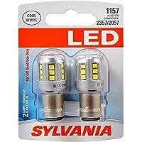 SYLVANIA 1157 White LED Bulb, (Contains 2 Bulbs)