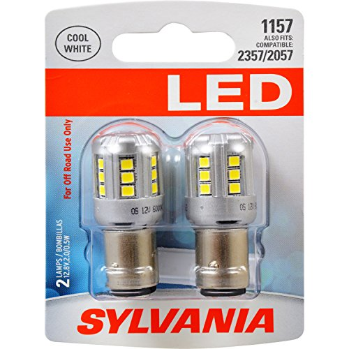 SYLVANIA 1157 White LED Bulb, (Contains 2 Bulbs)