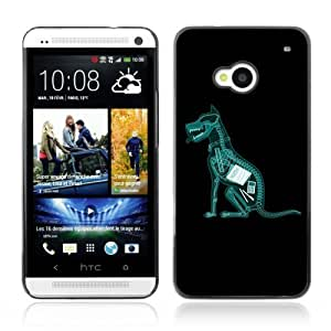 YOYOSHOP [Funny Dog Ate Homework X-Ray ] HTC One M7 Case