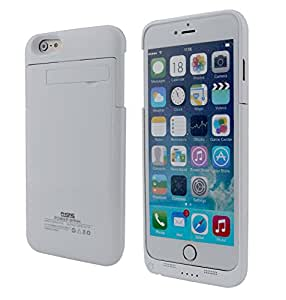 """iPhone 6 Plus Power Battery Case 5.5"""" 4800 mAH with Built-in Kickstand by Phone Charger Case (Authorized Seller - Portable Solar Shop) (White)"""