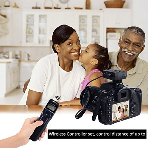 (VILTROX JY-710-C1 Wireless LCD Interval Timer Wireless Shutter Release Timer Remote Control for Canon 80D 77D T7i T6i 760D 650D M5 M6, Better Than TC-80N3)