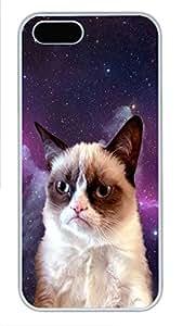 Lmf DIY phone caseiPhone 5 5S Case Grumpy Space Cat PC Custom iPhone 5 5S Case Cover WhiteLmf DIY phone case