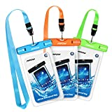 Mpow Waterproof Case, Universal Dry Bag Waterproof Phone Bag Pouch for Devices up to 6.0