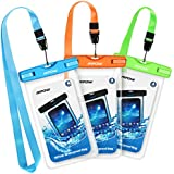"Mpow Waterproof Case, Universal Dry Bag Waterproof Phone Bag Pouch for Devices up to 6.0"" 3-Pack"