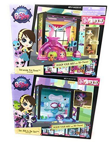 Rumble In The Jungle Costumes (Girl Toys Bundle Toys Littlest Pet Shop Pet -acular Fun Room and Say Ahh to the Spa Style Set (Chomper McConnell, Hamilton Rumble and Zoe Trent ))