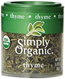 Simply Organic Thyme Leaf Whole Certified Organic, 0.28-Ounce Containers (Pack of 6)