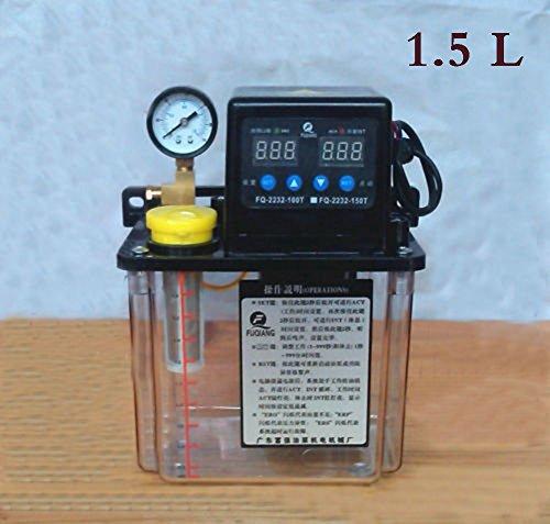TOPCHANCES 1.5L Automatic Lubricating Electric Lubrication Pump Oiler NC Pump Lubricator 6mm with Dual Digital Display 220V