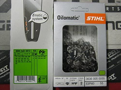 """STIHL 16/"""" BAR AND CHAIN COMBO MS241 MS250 MS251 3005-000-4813 3636-005-0055"""