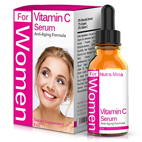 FLASH SALE! Vitamin C Serum For WOMEN with Hyaluronic Acid and Vitamin E - Anti Aging Topical Facial Serum For A Wrinkle-Free, Healthier and Younger Looking Skin, Made in USA - 2 Fluid Ounces