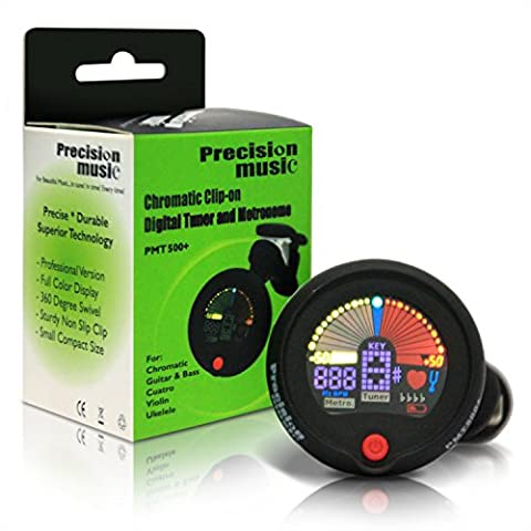 Tuner for Guitar, Ukulele, Violin, Cuatro and more ~ Chromatic, Clip On, Portable ~ Simple for Beginners, Used by Professionals ~ For Beautiful Music...in Tune, in Time, Every (Professional Guitar Tuner)