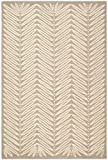 Safavieh Martha Stewart Collection MSR3612A Premium Wool and Viscose Chamois Beige Runner Rug (2'6 x 4'3) For Sale