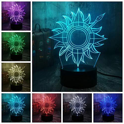 3D LED Illusion Lampe Nachtlicht Game Desk Home Decor Kind Fans Boy Toys Festliche Geburtstagsatmosphäre Dekoration…