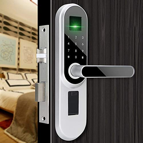 GAOPIN Smart Lock - Fingerprint Smart Door Lock, Code, Touch Screen Digital Password Biometric Electronic Lock Key for Home Office,Silver by GAOPIN (Image #1)