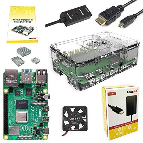 CanaKit Raspberry Pi 4 4GB Basic Starter Kit with Fan (4GB RAM)