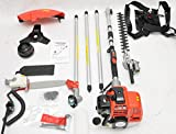 Tool-Tuff 4-in-1 Gas Powered Weed Whacker, Adj. Hedge Trimmer, Edger Pruning Saw