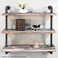 Diwhy Shelves Industrial Shelf with Pipe TubingIndustrial DIY Retro Wall Mount Iron Pipe Shelf Storage Shelving Bookshelf (36'')(HEAVY DUTY)