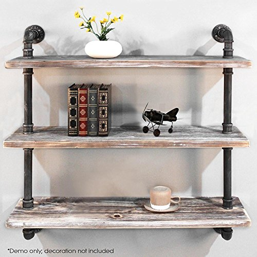 Diwhy Shelves Industrial Shelf with Pipe TubingIndustrial DIY Retro Wall Mount Iron Pipe Shelf Storage Shelving Bookshelf (36'')(HEAVY DUTY) by Diwhy