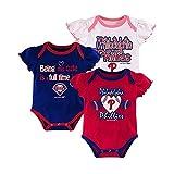 Baby Girls Philadelphia Phillies 3 Pack Bodysuits Size 6/9 Months