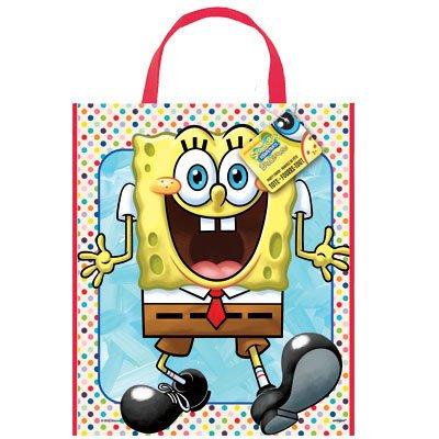 Large Plastic SpongeBob SquarePants Goodie Bag, 13 x 11