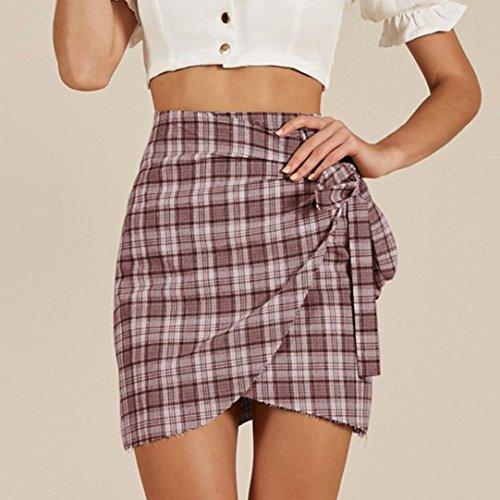 Noir Fathoit Dentelle Taille Haute Lattice Ete Noeud Femme Jupe Rose Split Uniforme Stripe Femmes Short Jupe Mini Avec Sexy Girls D'Arc Jupe RRqw5rxF0