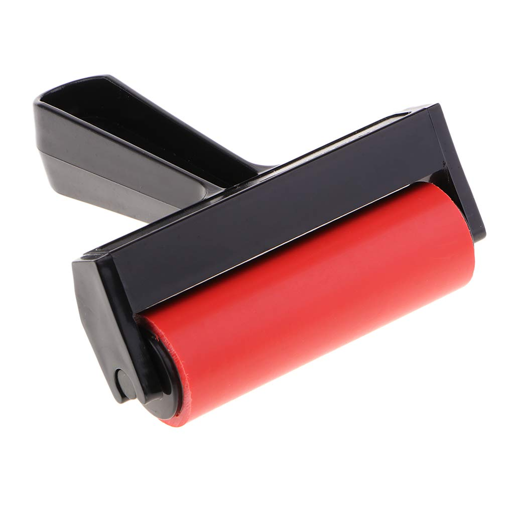 Stamping Baosity 4 Inch Plastic Rubber Brayer Roller for Printmaking Gluing Application Oil Painting Scrapbooking Wallpapers Printing