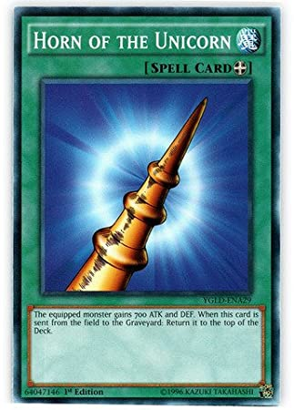 Yu-Gi-Oh! - Horn of the Unicorn (YGLD-ENA29) - Yugis Legendary Decks - 1st Edition - Common